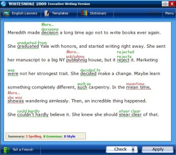 WhiteSmoke 2011 Proofreader Free Trial Download